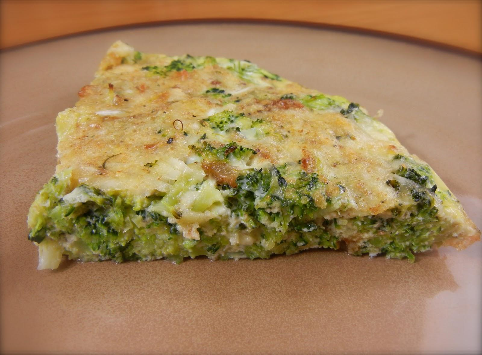 Torta de Brócolis de Baixa Caloria
