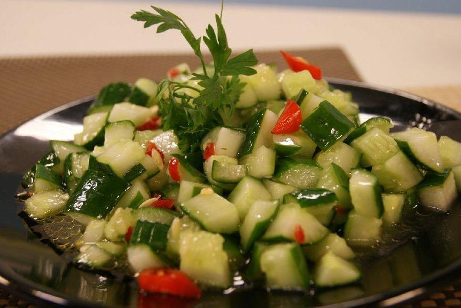 Salada de Pepino Com Hortelã Light