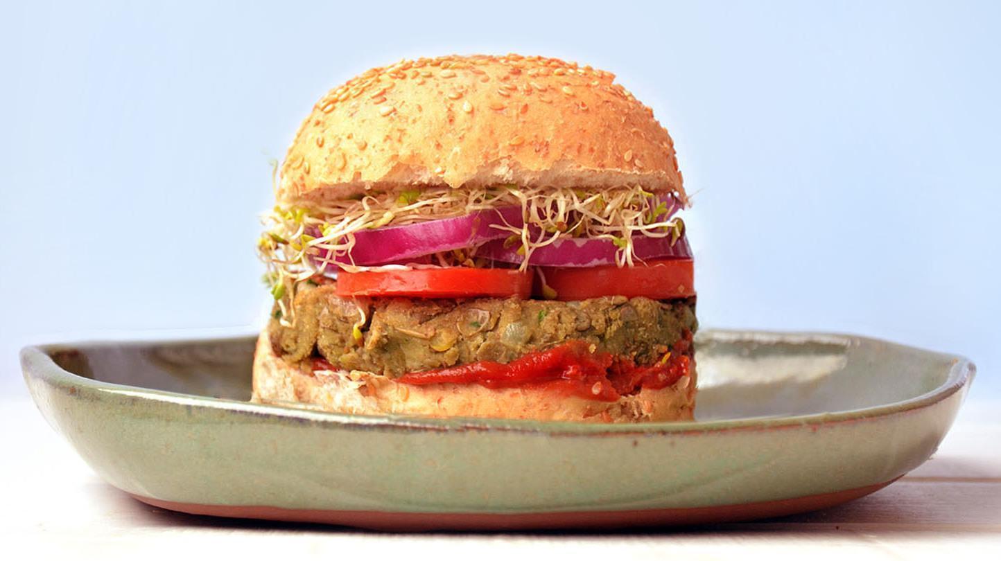 Hambúrgueres Light de Lentilhas Vegano